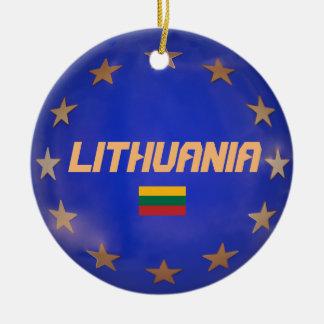 Enfeites de natal de Lithuania UE Bandeira