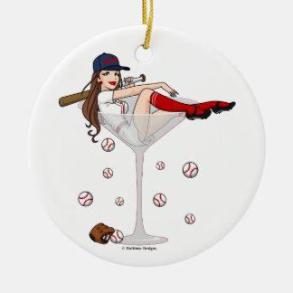 Enfeites de natal de Martini da menina de Boston