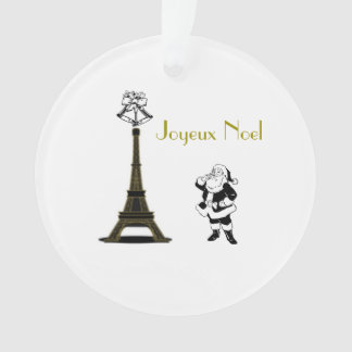 Enfeites de natal de Paris da torre Eiffel de