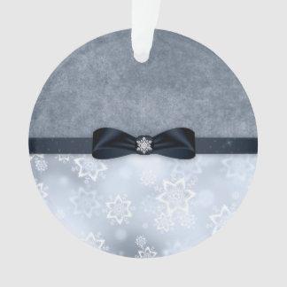 Enfeites de natal de prata do floco de neve