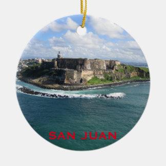 Enfeites de natal de San Juan Puerto Rico