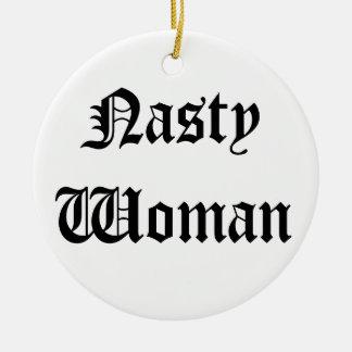 Enfeites de natal desagradáveis da mulher