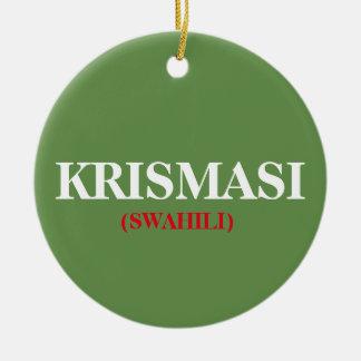 Enfeites de natal do africano de Krismasi do Natal