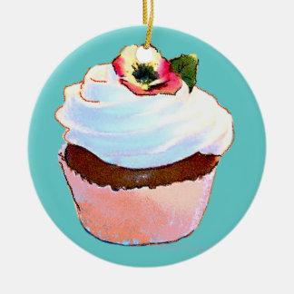 Enfeites de natal do amor perfeito do cupcake n