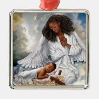 Enfeites de natal do anjo do Afro e do Jesus do