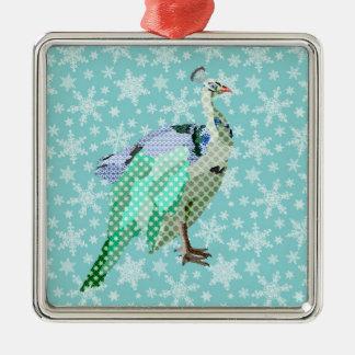 Enfeites de natal do azul do Peafowl