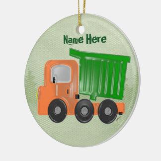 Enfeites de natal do caminhão do trabalho