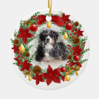 Enfeites de natal do cão da aguarela