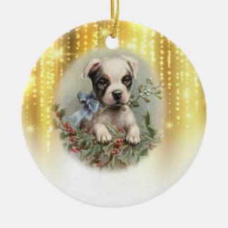 Enfeites de natal do cão do vintage