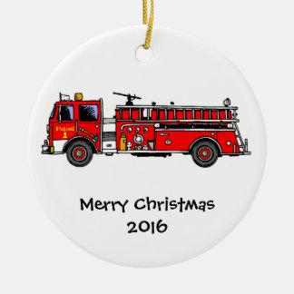 Enfeites de natal do carro de bombeiros