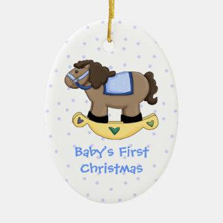 Enfeites de natal do cavalo de balanço do bebé