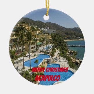 Enfeites de natal do costume de Acapulco
