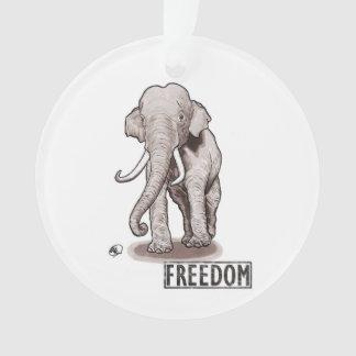 """Enfeites de natal do elefante da """"liberdade"""""""