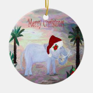 Enfeites de natal do elefante do papai noel