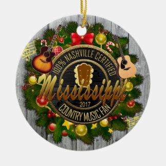 Enfeites de natal do fã de música country de