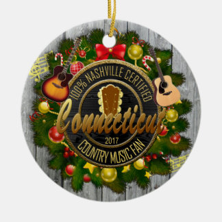 Enfeites de natal do fã de música country de