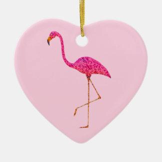 Enfeites de natal do flamingo