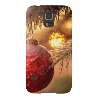 Enfeites de natal do fosco Nestled no pinho Capinhas Galaxy S5