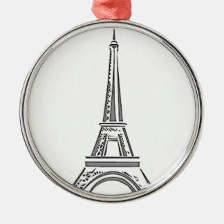 Enfeites de natal do francês de Paris da torre
