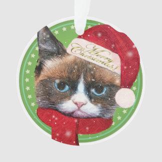 Enfeites de natal do gato do papai noel de Meowy