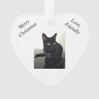 Enfeites de natal do gato preto