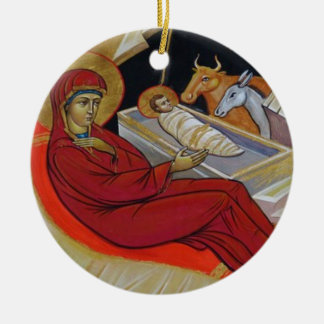 Enfeites de natal do ícone da natividade