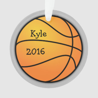 Enfeites de natal do modelo da foto do basquetebol