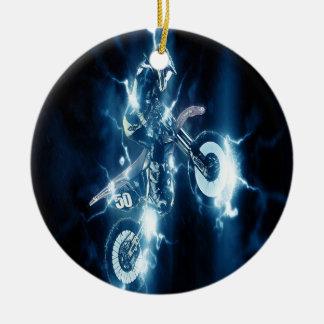 Enfeites de natal do motocross