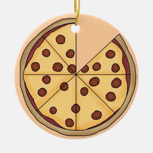 Enfeite De Torta ~ Enfeites de natal do negócio da torta de pizza Zazzle