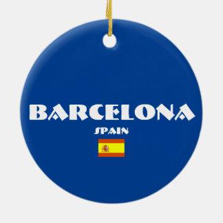 Enfeites de natal do Oval do futebol de Barcelona