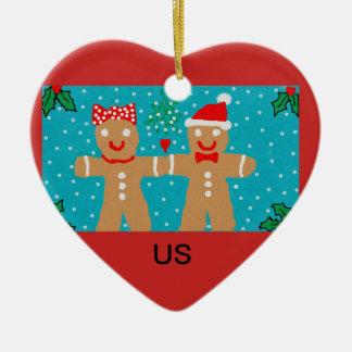 """Enfeites de natal do pão-de-espécie com """"nós"""""""