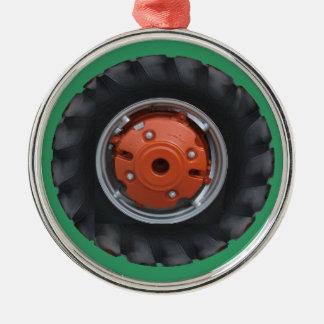 Enfeites de natal do pneu do trator