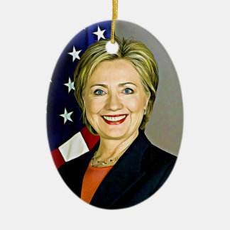 Enfeites de natal do pop art de Hillary Clinton