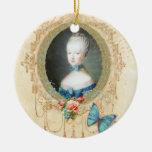 Enfeites de natal do retrato de Marie Antoinette