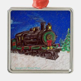 Enfeites de natal do trem