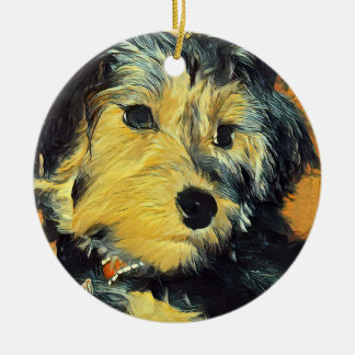 Enfeites de natal do yorkshire terrier