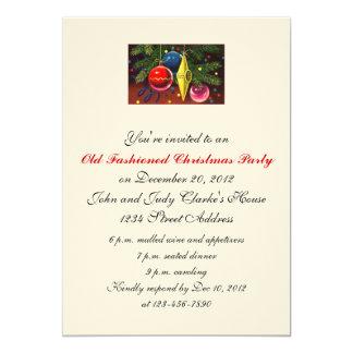 Enfeites de natal dos convites da festa de Natal