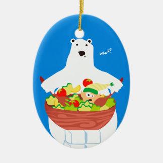 Enfeites de natal engraçados da salada do duende