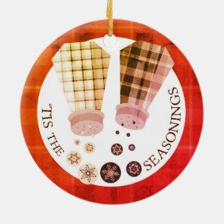 Enfeites de natal feitos sob encomenda da comida