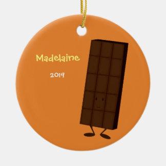Enfeites de natal felizes do bar de chocolate |