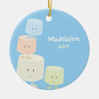 Enfeites de natal felizes dos Marshmallows