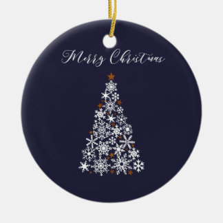Ornamento De Cerâmica Enfeites de natal festivos da árvore do floco de