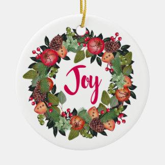 Enfeites de natal florais da alegria