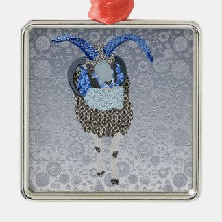 Enfeites de natal florais da prata dos carneiros