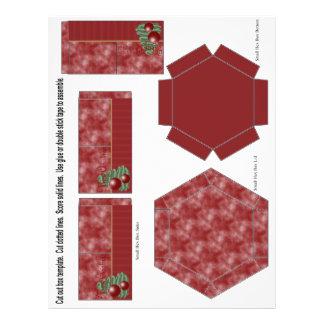 Enfeites de natal panfleto coloridos