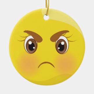 Enfeites de natal irritados de Emoji