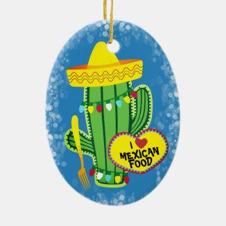 Enfeites de natal mexicanos da comida do cacto da