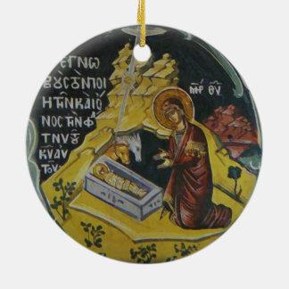 Enfeites de natal ortodoxos do ícone da natividade