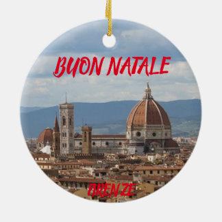 Enfeites de natal panorâmicos de Florença
