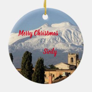 Enfeites de natal panorâmicos de Sicília